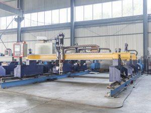 智能龙门式cnc金属板切割机自动等离子和火焰切割机械